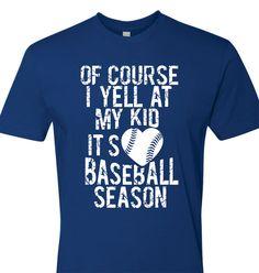 Baseball Mom Shirt Baseball Dad Shirt Of Course I by TShirtNerds Baseball Tips, Baseball Crafts, Baseball Mom Shirts, Softball Mom, Dad To Be Shirts, Sports Shirts, Softball Cheers, Softball Pitching, Baseball Pictures