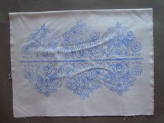 HUNGARIAN MATYO PILLOWCASE WALL DECORATION STAMPED HAND EMBROIDERY 23X16…