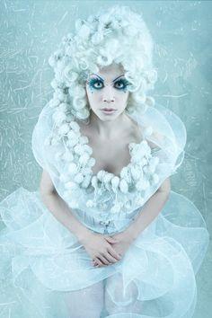 Model, MUA: Ophelia Overdose | Title: «Missy Snowflake» | Photography: j-maya (Jamari Lior) | Edit & Dress: Ophelia Overdose | #OpheliaOverdose #Victorian #Wedding