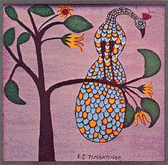 Tingatinga peacock