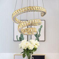 LED Decken Lampe Wohn Zimmer Sternen Himmel Effekt Kristall Blatt-Gold Leuchte