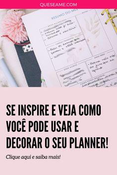 Meu Planner em Janeiro Check Up, Fotos Do Instagram, Planner, January, Day Planners, Marriage