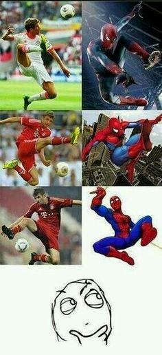 Thomas Müller, Spider man, Bayern München, Bayern Munich