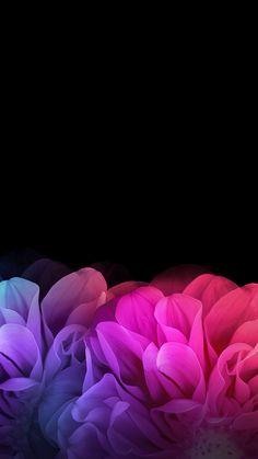 Black Floral iPhone Wallpaper