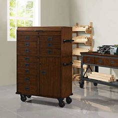 Whalen 48 Metal And Wood Workbench Cabinet Heavy Duty