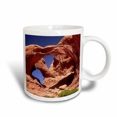 3dRose Double Arch natural rock arches.Arches National Park, Utah.., Ceramic Mug, 11-ounce
