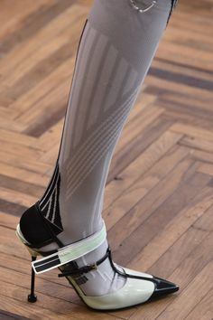 Prada Resort Collection 2018 show at Osservatorio Prada on May 7 2017 in Milan Italy High Heel Boots, Shoe Boots, High Heels, Boots Of Spanish Leather, Runway Shoes, Pumps, Prada Shoes, Fashion Socks, Shoe Dazzle