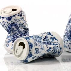 Smashed Can Porcelain Sculptures – Fubiz Media