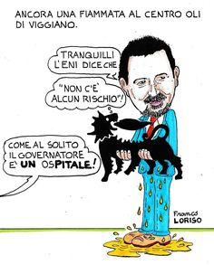 Franco Loriso e la sua satira su Onda Lucana (si ringrazia per la cortese concessione).
