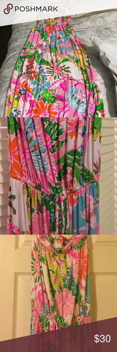 Lilly for Target Med Strapless Maxi Lilly for Target Med Strapless Maxi only worn once!Great condition! Lilly Pulitzer for Target Dresses Maxi