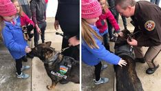 Emma Mertens loves dogs. So close to 40 police department and their K-9 officers visited on her on Saturday. Happy Days Show, Fox 6, Feel Good News, Uplifting News, Good News Stories, Positive News, Fox News App, Police Dogs, Therapy Dogs