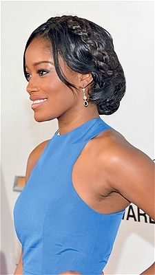 Keke Palmer's style is polished and romantic.