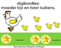 *▶ Digibordles: Moeder kip en haar kuikens!
