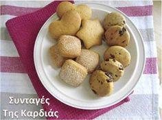 ΣΥΝΤΑΓΕΣ ΤΗΣ ΚΑΡΔΙΑΣ: Μίνι cookies τριών γεύσεων Cookies, Cereal, Potatoes, Vegetables, Breakfast, Food, Crack Crackers, Morning Coffee, Biscuits