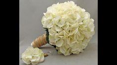 Bruidsboeket met witte hortensia