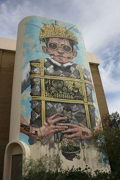 Wall by Italian artist Pixel Pancho   #pixelpancho - More #streetart at www.Streetart.nl