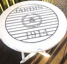 Garden 1914 transfer.  Neat project for a garden table!!  17 Transfer Projects - Tables - The Graphics Fairy