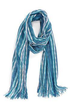 Women's Missoni Stripe Scarf - Blue