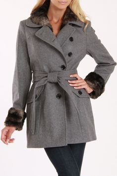Winter Jacket In Heather Gray.