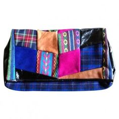 AMERICAN RETRO Patchwork clutch bag pinned from blog.pixiie.net