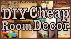 DIY CHEAP ROOM DECOR!