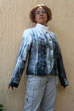 Пиджаки, жакеты ручной работы. Ярмарка Мастеров - ручная работа Жакет Ночные ливни. Handmade.