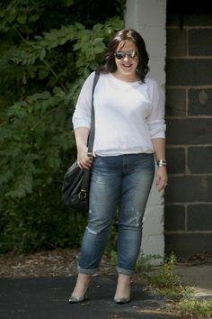 wardrobe oxygen what I wore Gap Real Straight Jeans Karen Kane Top Rough Tumble Bag