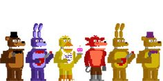 Fnaf 4 Styled Minigame Animatronics by Shaddow24 on DeviantArt