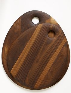 SOLID WALNUT WOOD Cutting Board  Medium Oval by Dominikwoods, $99.00