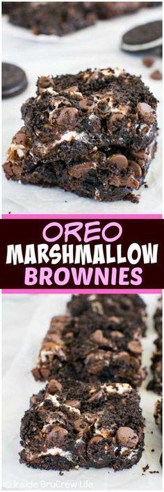 20 Absolutely Amazing Dessert Recipes - Oreo Marshmellow Brownies