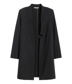 Women's long jacket idea (to be paired with a cranberry or green blouse) (H&M)