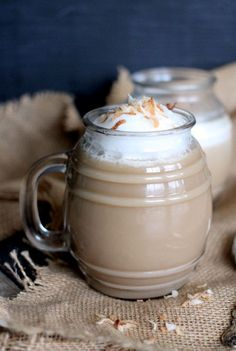 Coconut Cream Latte is the perfect creamy make at home coffee!