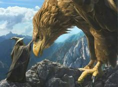 Gwaihir, Lord of the Eagles, and Mithrandir
