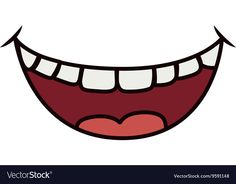Smile cartoon icon Mouth design graphic vector image on VectorStock Smile Drawing, Mouth Drawing, Funny Face Mask, Easy Face Masks, Cartoon Mouths, St Etienne, Mask Painting, Human Figure Drawing, Craft Ideas