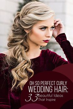 33 Oh So Perfect Curly Wedding Hairstyles ❤️ Almost all of the curly wedding hairstyles are for girls with straight hair. It will create a nice effect for brides. Take a look at different variants! See more: http://www.weddingforward.com/curly-wedding-hairstyles/ #wedding #hairstyles #curlyweddinghairstyles
