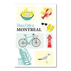 Vivre l'été à Montréal Laura Lee, White Prints, Poster Ads, Illustrations, Travel Scrapbook, Vintage Design, Paper Cutting, Graffiti, Doodles