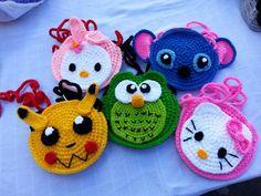Pequeño monedero de crochet chico/chica por crochetbyamydesign
