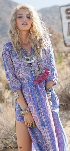 Love this gypsy style. #boho #chic