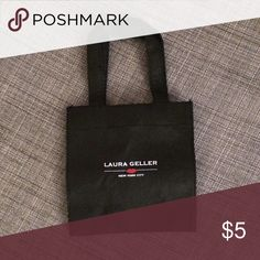 """$5 or FREE Small shopping bag - 6.5"""" x 7"""". $5 or FREE with any purchase! Let me know if you want as free gift with purchase and will set up items in a bundle. Laura Gellar Bags"""