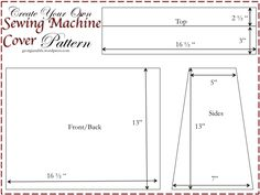 Sewing Machine Cover Pattern need to buckle down and make this!!