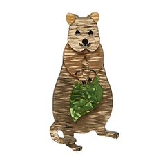 """Erstwilder Limited Edition Rottnest's Best Brooch. """"Look I know I'm about as adorable as adorable gets, but don't try to pick me up. I'm a look but don't touch kind of guy. Quokka, Quirky Gifts, Animal Jewelry, Fall 2016, Animal Kingdom, Mammals, Costume Jewelry, Cute, Vintage"""