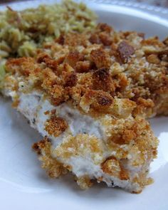 "Sour Cream Chicken - My review:  this is a keeper recipe.  Easy and fast to make.  Only substiution I made is to use crushed french fried onions instead of the croutons (I didn't have any).  I also just melted the butter and drizzled it over the crumbs (faster than ""dotting"" with butter).  We liked the French fried onions so much that I'm unsure if we'll try it with the croutons :)"