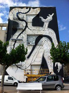 """Arbol"" by Sam3, Amposta, Spain #street mural, #mural"