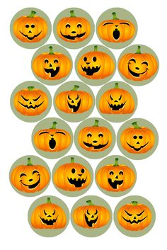 "Jock-o-Lanterns Bottle cap image pack Formatted for printing on 4"" x 6"" photo paper"
