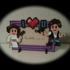 Star Wars photo frame hama perler beads by mrs_althea