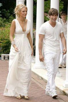 Serena Van Der Woodsen Style white gown