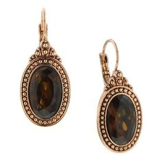 Majestic Amber Topaz Drop Earrings (1.370 RUB) ❤ liked on Polyvore featuring jewelry, earrings, accessories, brown, vintage style jewellery, oval earrings, topaz drop earrings, brown jewelry and brown topaz jewelry