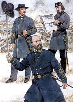 • Major-General Henry Heth  • Major-General George Pickett  • Brigadier-General Lewis Armistead