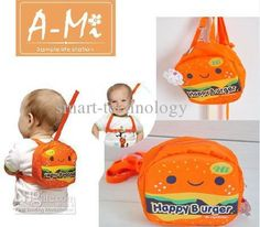 baby hamburger backpack/leash!!!