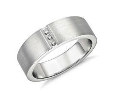 Men's Modern Channel Diamond Ring in Platinum | #Wedding #Ring